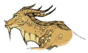 WoW: Bronze dragon by Hatted-Squirrel