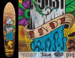 Spray Candle Skate Deck by Gwaraddict