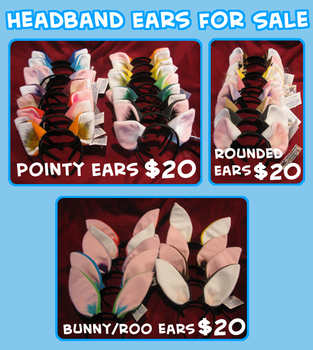Headband Ears for Sale :3 by x-Wolfeh-x