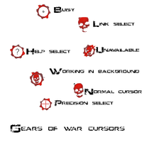 Gears of war cursors by cid500