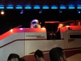 I shout hi to R2-D2 in Star Tours by Magic-Kristina-KW