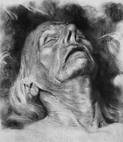 Dead Portrait Charcoal by phizpietl