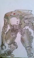 futuristic robot by shasoysen