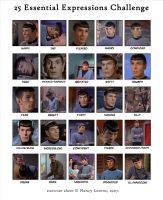 Spock: 25 Expressions by TreeofKnowledge