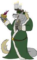 Jeager the Ghost of Christmas Present by Wolfy-T
