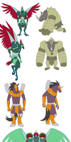 STuCK: Gladiator Beast designs by Iron-Zing