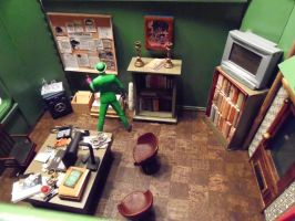 Private Eye Riddler Diorama by skphile