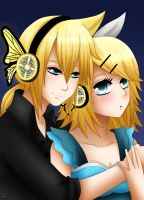 Rin and len kagamine : Magnet by LadyGalatee