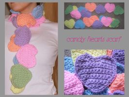 candy hearts scarf by Brookette