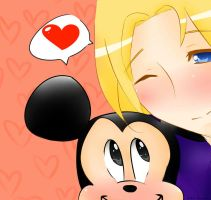France x Mickey Mouse Valentine~ by jackiekawaii