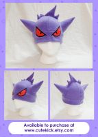 Gengar Hat With Eyes by cutekick