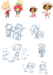 Tomodachi Doodles by Pieology