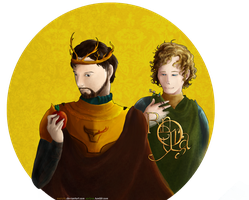 GOT: Renly Baratheon and Loras Tyrell by SarlyneART