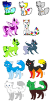 Adoptable cats by StarSwirl12