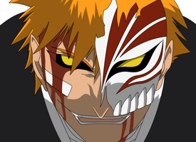 Bleach - Ichigo Hollow by damasktear