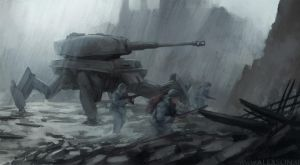 WW2 Tiger mech by alexson1