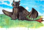 Toothless by mangastyledraw