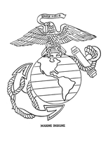 Marine Insignia by Writer-Colorer