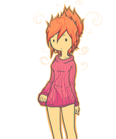 Lil' ol' Flame Princess by Ranoutofideas