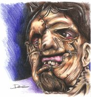 Leatherface's portrait by dottcrudele
