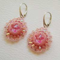 Candy beaded earrings with Swarovski by Sol89