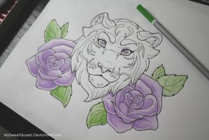 Tattoo Design: WIP 2 by MySweetQueen
