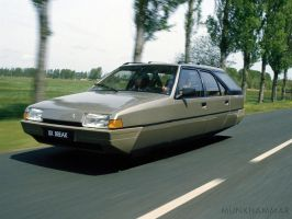 Flying Citroen BX Break by JacobMunkhammar