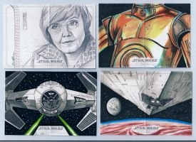 Topps Star Wars Illustrated A New Hope sketch st11 by DarklighterDigital