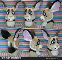 Rabid Rabbit Fursuit Head by LobitaWorks