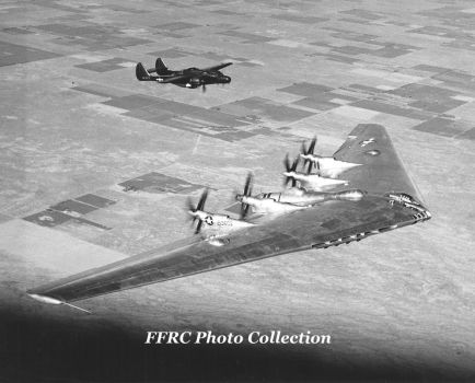 XB-35 42-13603 with chase aircraft P-61C 43-8322 by fighterman35