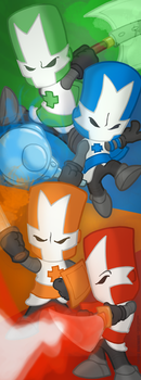 Castle Crashers 10x27' Poster by StacMaster-S