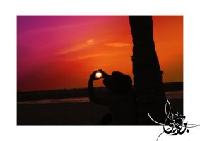 Sunset Heart by BinDubai