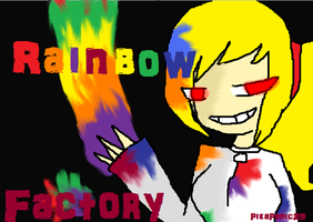 Me in rainbow factory by PikaPanic25