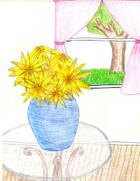flowers in a vase by sweetchick141