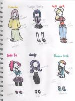 MLP:FiM Outfit Sketches by Scarletts-Fever