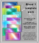 Mixed Colors1 -Template Pack by AssClownFish