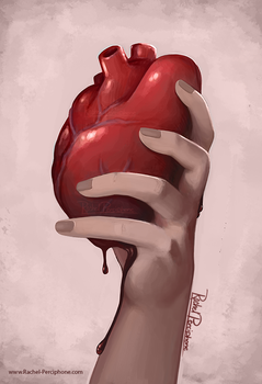 Hand Holding Heart by Rachel-Perciphone