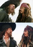 Barbossa and Sparrow Cosplay by captainjaze
