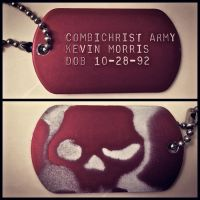 CombiChrist Army Dog Tag by HisWeskerness