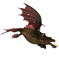 STOCK PNG  dragon fish 2 by MaureenOlder