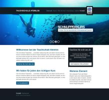 Web Design - Diving School by kaffeemeister