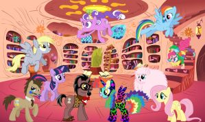 OC MLP Library Party 2.0! by LobsterRapist