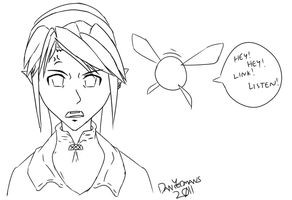 Link looks pissed. by DanYeomans
