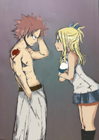 Natsu being Scolded by EllieBimbo