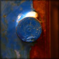 found objects: the blue knob by Moon-Willow