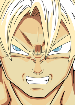 Goku - Angry Face by ShinShoryuken