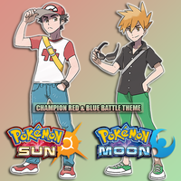 Pokemon Sun and Moon - Champion Red and Blue by JunkoXEnoshima