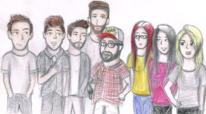 SourceFed and DeFranco by iamthek3n