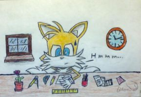 Tails is Thinking by tails4evr