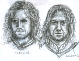 Faramir and Boromir sketch by xsamixsalsax